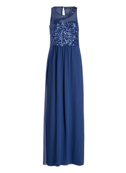 VM VERA MONT Abendkleid mit Paillettenbesatz, Farbe: BLAU (Bild 1)