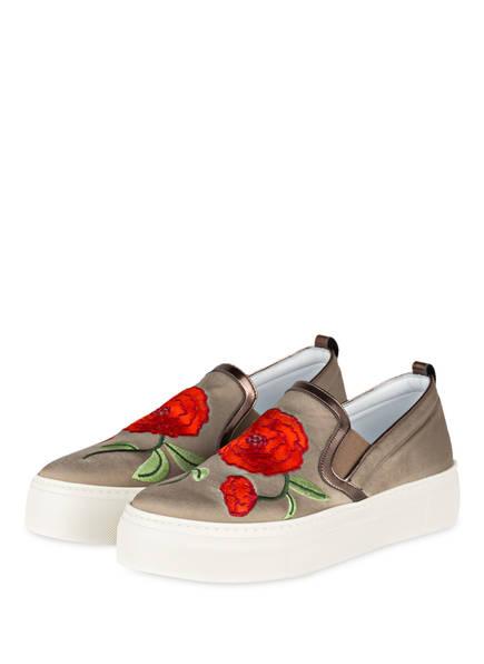 VICTORIA WOOD Slip-on-Sneaker, Farbe: TAUPE (Bild 1)