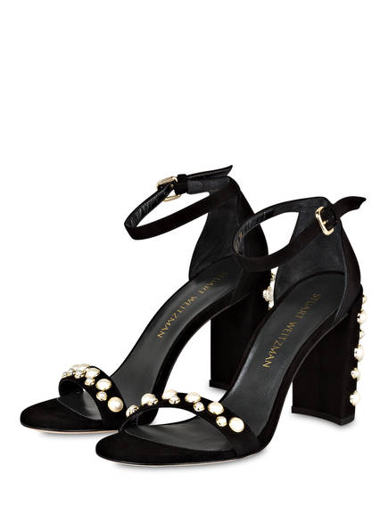 STUART WEITZMAN Sandaletten MOREPEARLS  mit Perlenbesatz