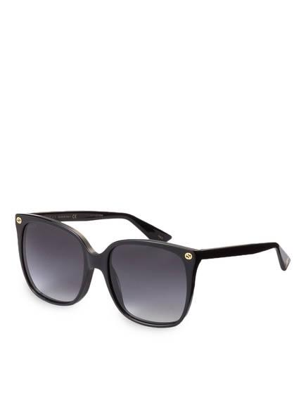 gucci sonnenbrille gg0022s farbe 001 schwarz grau verlauf bild 1