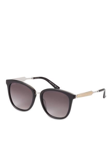 gucci sonnenbrille gg0073s farbe 001 schwarz silber grau bild 1