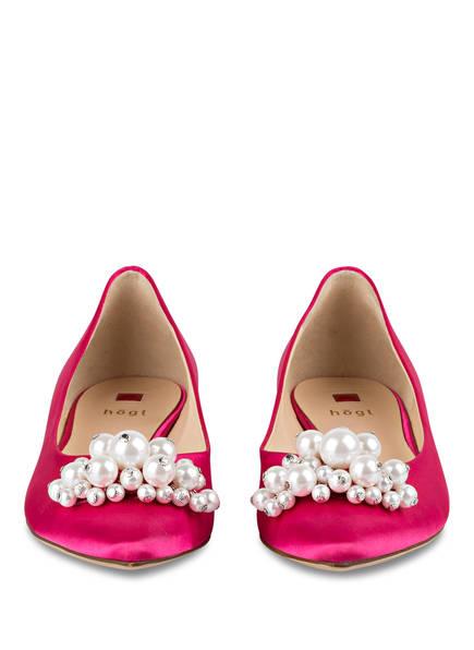 Högl Ballerinas mit Perlenbesatz