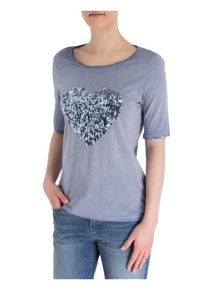 six-o-seven T-Shirt mit Paillettenbesatz
