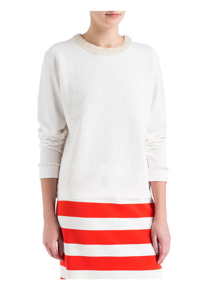 MARCCAIN Sweatshirt mit  Perlenbesatz