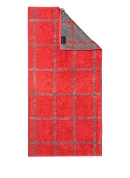 Cawö Handtuch LUXURY HOME, Farbe: ROT/ GRAU (Bild 1)