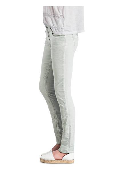 COCCARA Jeans mit Paillettenbesatz