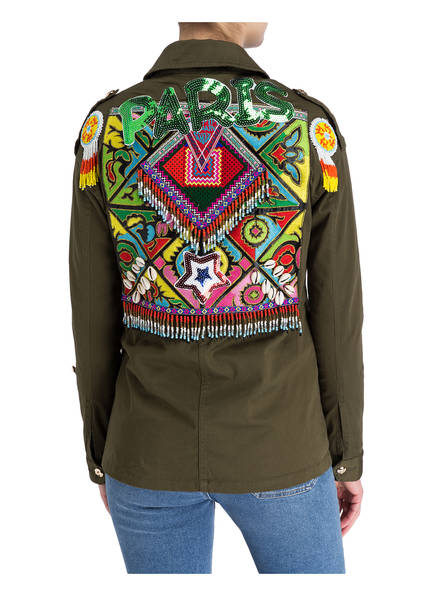 DON'T BELIEVE THE HYPE Jacke mit Patches