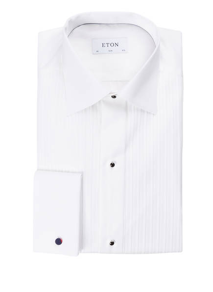 ETON Smoking-Hemd EVE Slim Fit mit Umschlagmanschette, Farbe: WEISS (Bild 1)