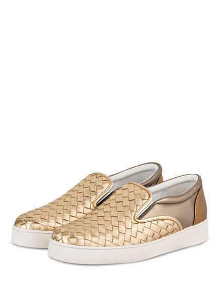 BOTTEGA VENETA Slip-on-Sneaker, Farbe: LIGHT GOLD (Bild 1)