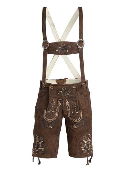 Wiesnkönig Trachten-Lederhose, Farbe: BRAUN (Bild 1)