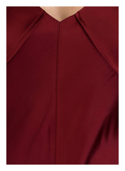 HELMUT LANG Midi-Kleid mit Seidenbesatz