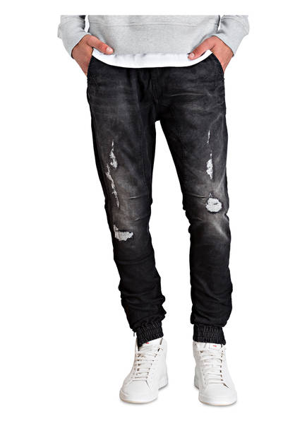 CHASIN' Destroyed-Cuffed-Jeans Slim-Fit