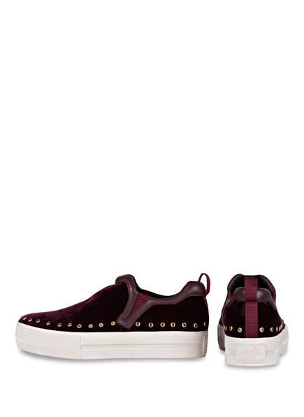 ash Slip-on-Sneaker aus Samt