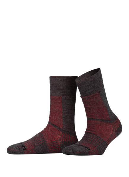 WRIGHTSOCK Trekking-Socken COOLMESH II MERINO CREW , Farbe: 09 GREY/RED (Bild 1)