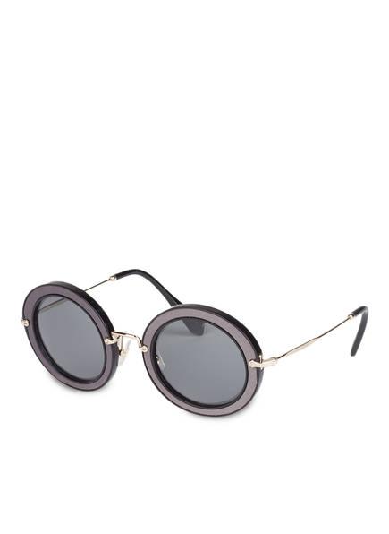 MIU MIU Sonnenbrille MU 08RS, Farbe: VIE9K1 - GRAU/ SCHWARZ (Bild 1)