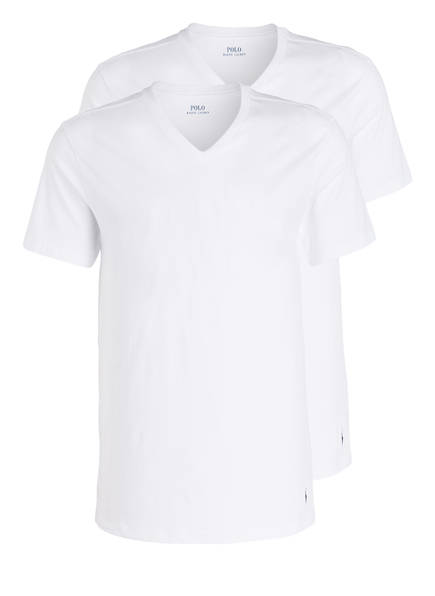 POLO RALPH LAUREN 2er-Pack V-Shirts, Farbe: WEISS (Bild 1)