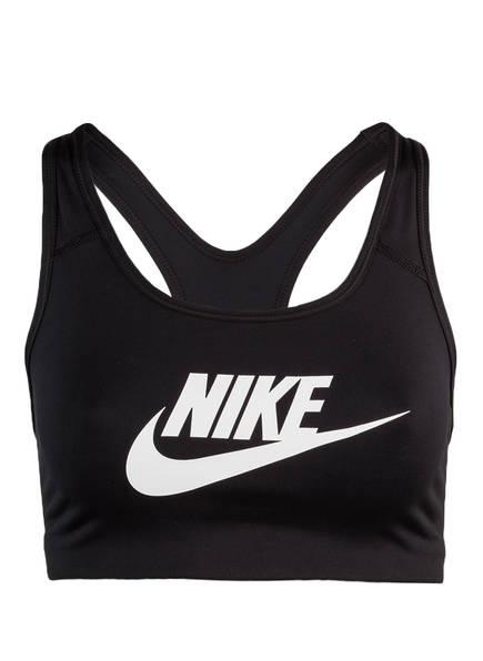 Nike Sport-BH CLASSIC SWOOSH FUTURA, Farbe: SCHWARZ (Bild 1)