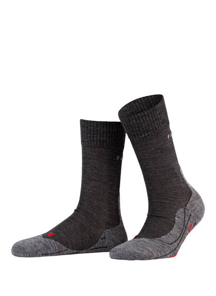 FALKE Trekking-Socken TK5 mit Merinowolle-Anteil, Farbe: GRAU/ SCHWARZ (Bild 1)