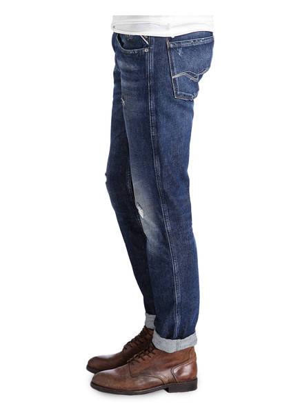 REPLAY Destroyed-Jeans ANBASS Slim-Fit