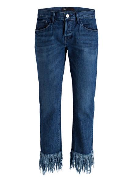3x1 Cropped-Jeans FRINGE, Farbe: LIMA BLUE (Bild 1)