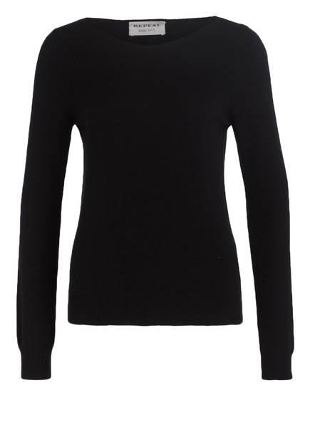 REPEAT Cashmere-Pullover, Farbe: SCHWARZ (Bild 1)