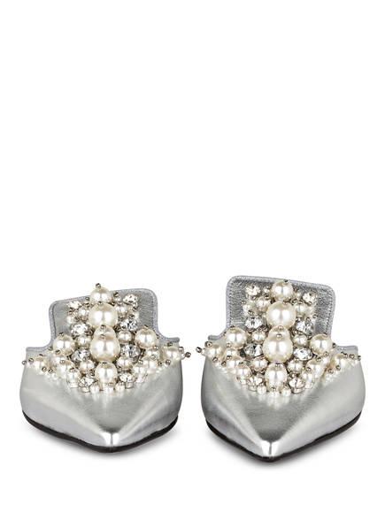 CAIMAN Slipper mit Perlenbesatz