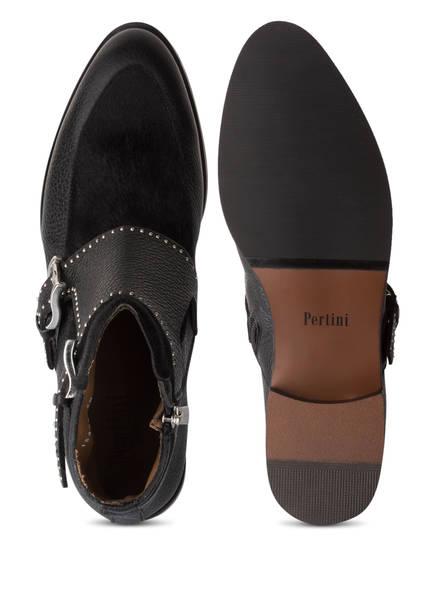Pertini Stiefeletten mit Nietenbesatz