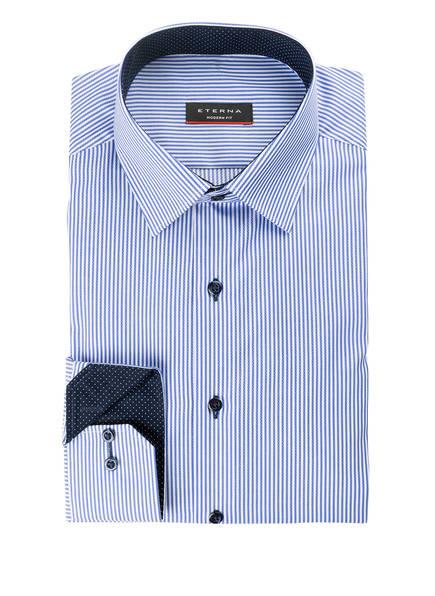 ETERNA Hemd Modern Fit, Farbe: DUNKELBLAU/ WEISS GESTREIFT (Bild 1)
