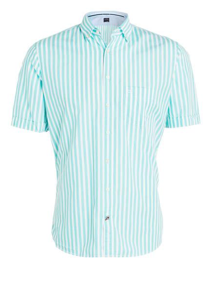 Mint Casual Modern Olymp Halbarm Fit Gestreift Weiss hemd PawXxq4