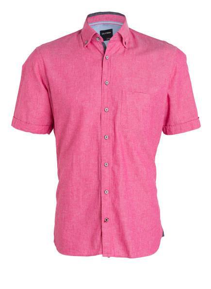 OLYMP Halbarm-Hemd Casual modern fit mit Leinenanteil, Farbe: PINK (Bild 1)