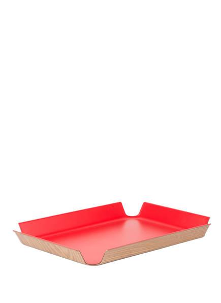 CONTINENTA Tablett, Farbe: ROT/ BEIGE  (Bild 1)