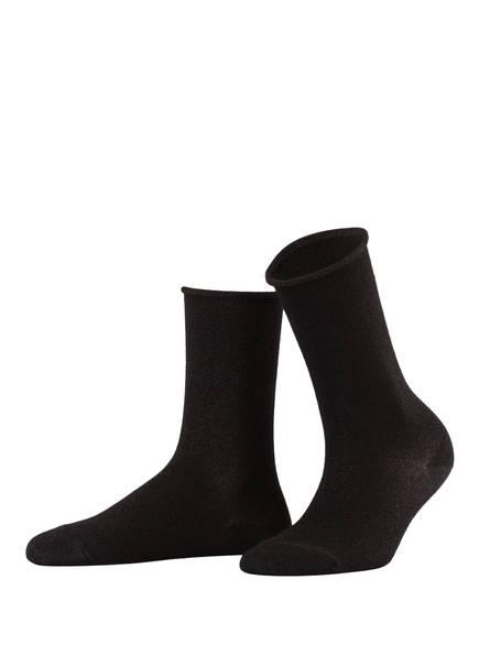 FALKE Socken SHINY mit Glitzergarn , Farbe: 3000 BLACK (Bild 1)