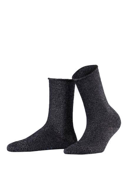 FALKE Socken SHINY, Farbe: 6370 DARK NAVY (Bild 1)