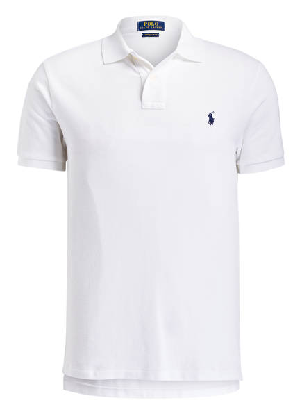 POLO RALPH LAUREN Piqué-Poloshirt Custom Slim Fit, Farbe: WEISS (Bild 1)