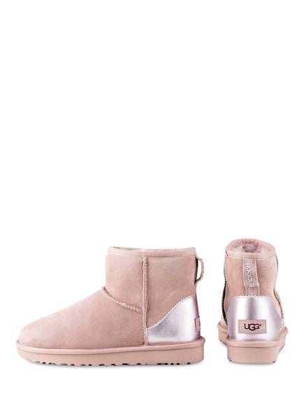 UGG Fell-Boots CLASSIC MINI II METALLIC<br>          gef&uuml;ttert