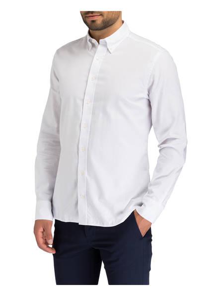 HACKETT LONDON Hemd mit Patches Slim-Fit