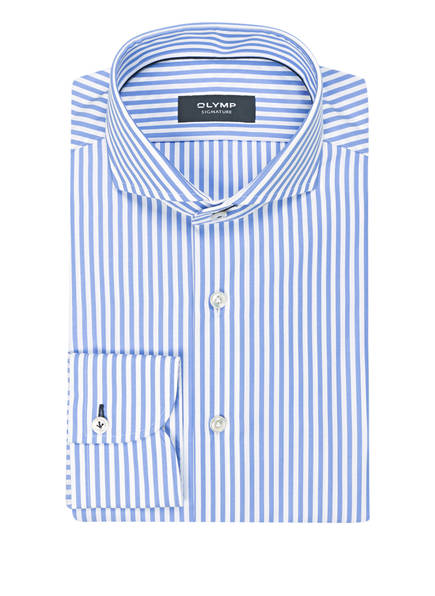 OLYMP SIGNATURE Hemd tailored fit, Farbe: HELLBLAU/ WEISS GESTREIFT (Bild 1)