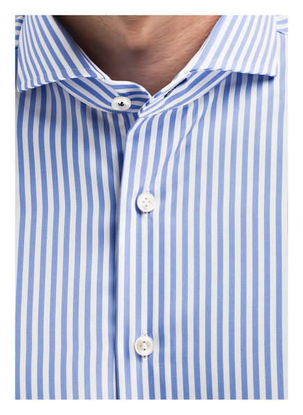 Tailored Olymp Fit Signature Weiss Hellblau Hemd Gestreift qzwafEw