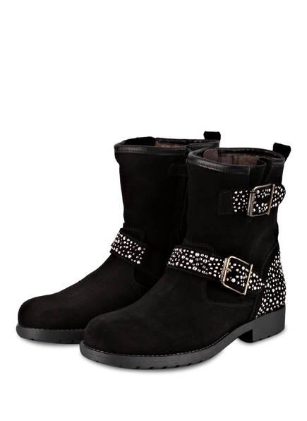 clic Boots, Farbe: AFELPADO CERVO NEGRO ZOE NEGRO RAYADO (Bild 1)