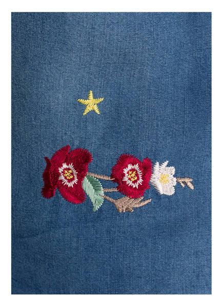 lilienfels Jeansbluse mit Stickereien