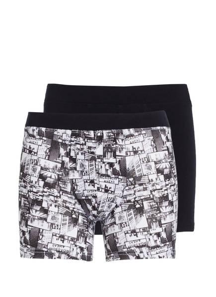 SCHIESSER 2er-Pack Boxershorts, Farbe: SCHWARZ/ WEISS (Bild 1)