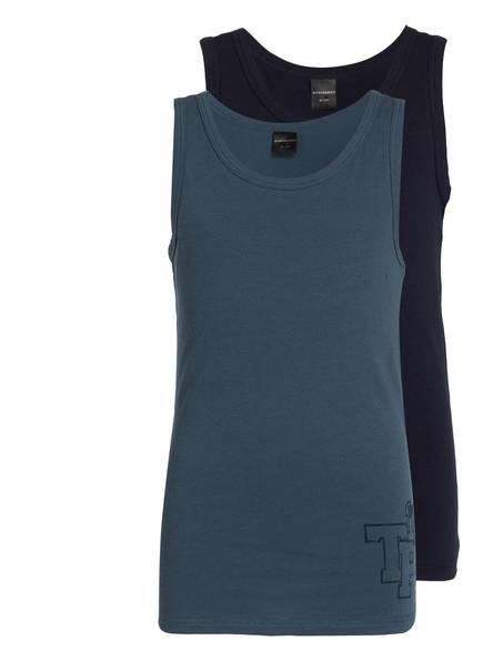 SCHIESSER 2er-Pack Unterhemden, Farbe: DUNKELBLAU/ NAVY  (Bild 1)