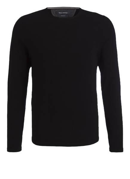Marc O'Polo Schurwoll-Pullover, Farbe: SCHWARZ (Bild 1)