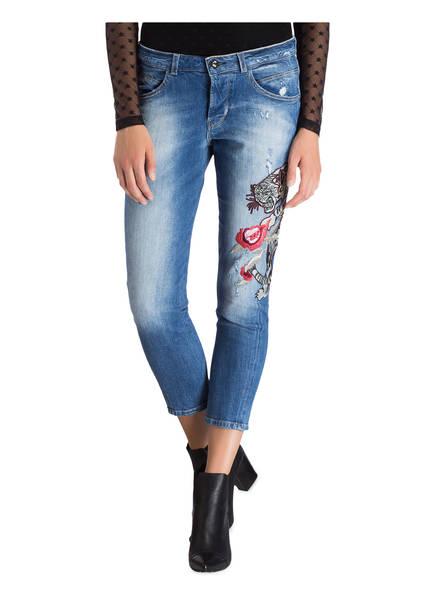 Guess 7/8-Jeans VANILLE <br>       mit Stickereien