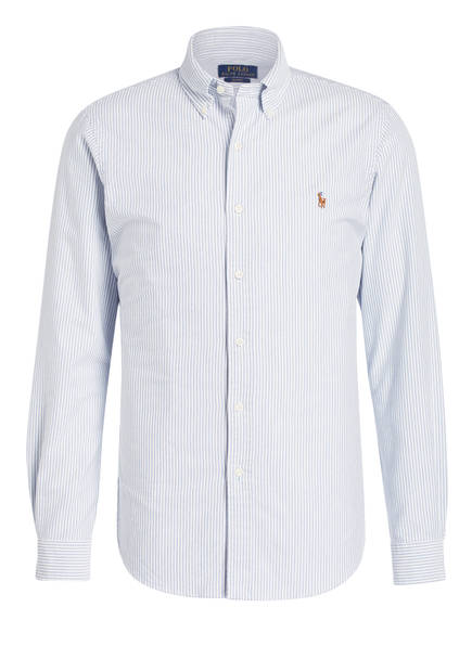 POLO RALPH LAUREN Oxford-Hemd Slim Fit, Farbe: HELLBLAU/ WEISS GESTREIFT  (Bild 1)