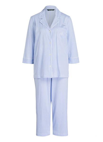LAUREN RALPH LAUREN Schlafanzug, Farbe: BLAU/ WEISS GESTREIFT (Bild 1)