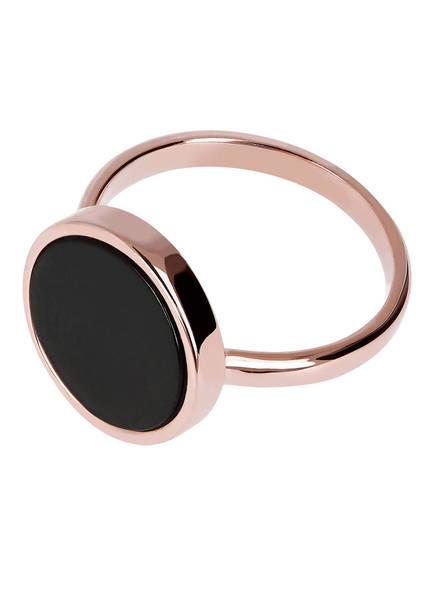 Bronzallure Ring, Farbe: ROSÉGOLD/ SCHWARZ (Bild 1)