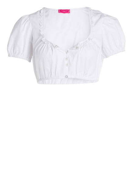 KRÜGER Dirndlbluse WHITE HEARTS, Farbe: WEISS (Bild 1)