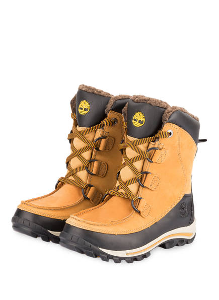 Timberland Boots RIME RIDGE, Farbe: SENFGELB/ DUNKELBRAUN (Bild 1)