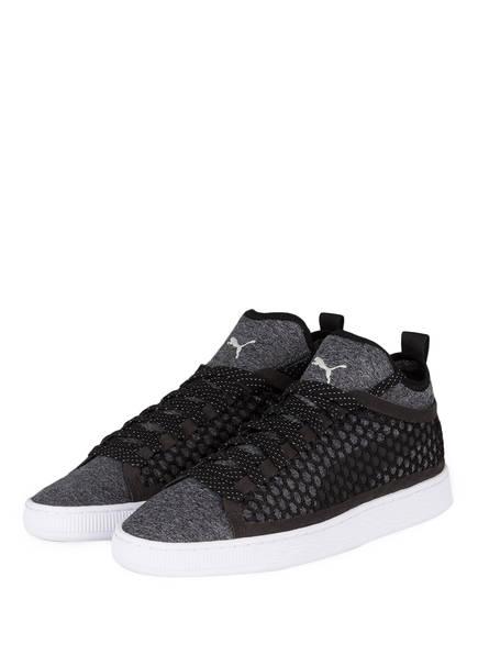 PUMA Sneaker BASKET CLASSIC NETFIT, Farbe: GRAU/ SCHWARZ (Bild 1)
